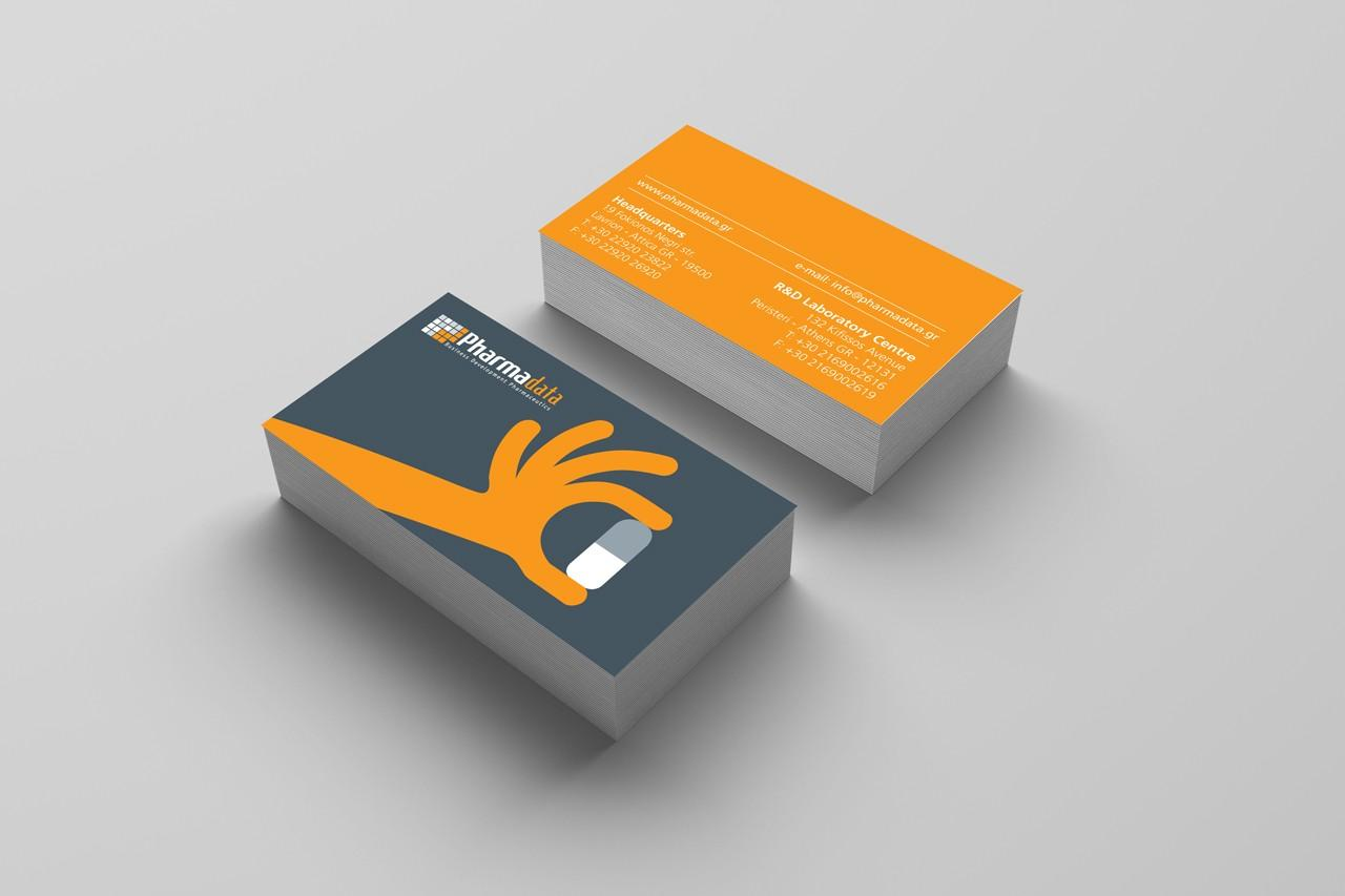 PharmaData business cards design