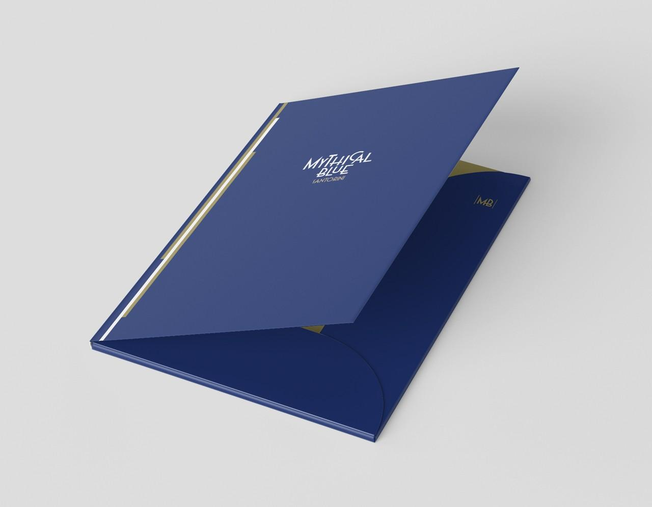 Mythical Blue Santorini folder design