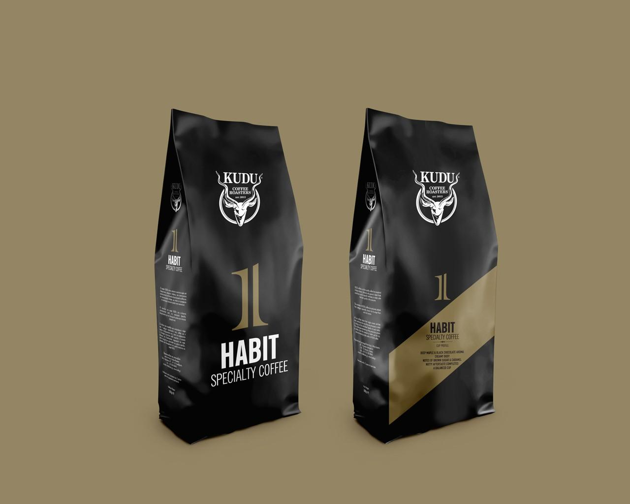 Kudu coffee roasters packaging design