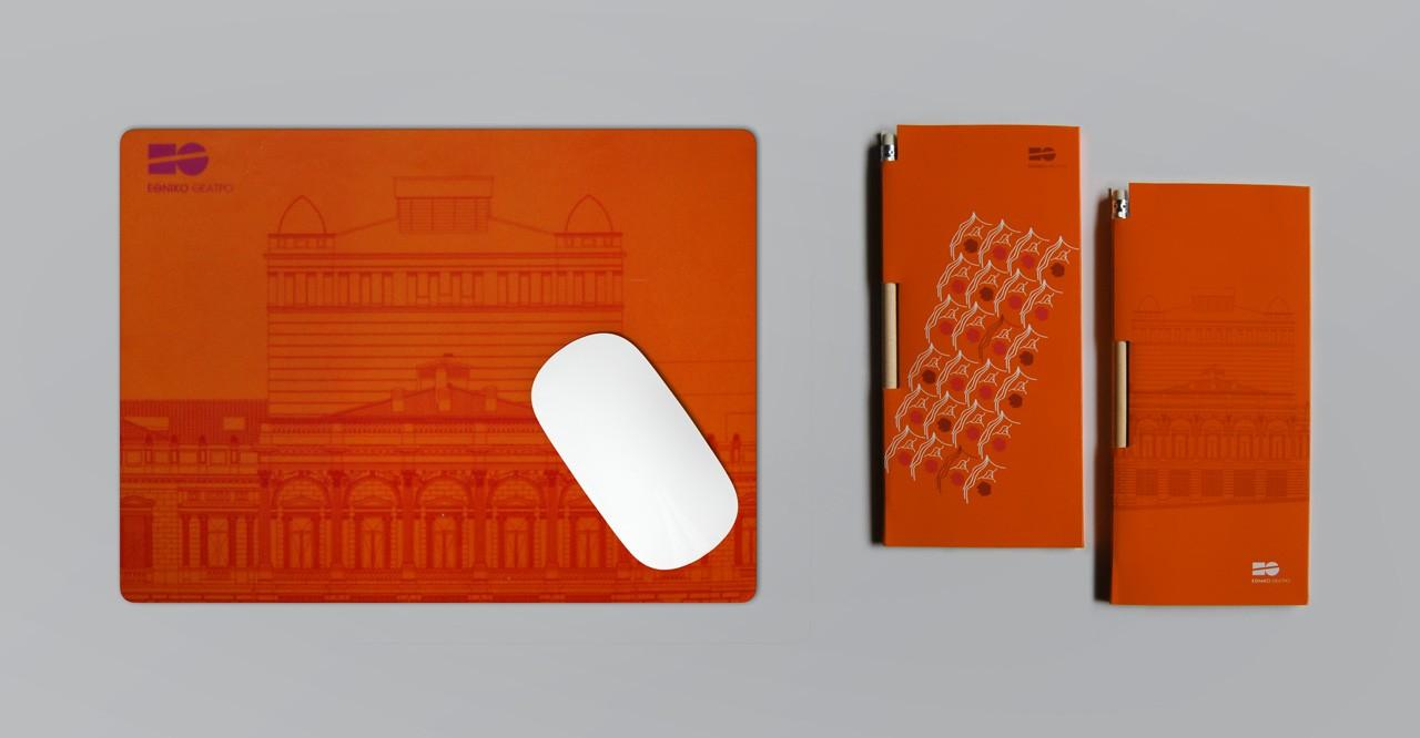 Mouse pad and note books design