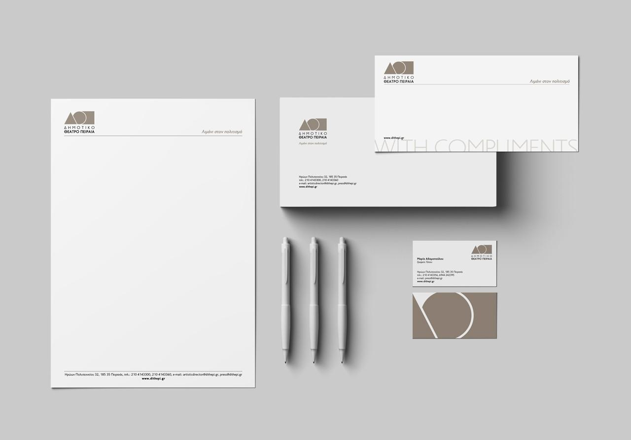 Piraeus Municipal Theater - corporate identity design