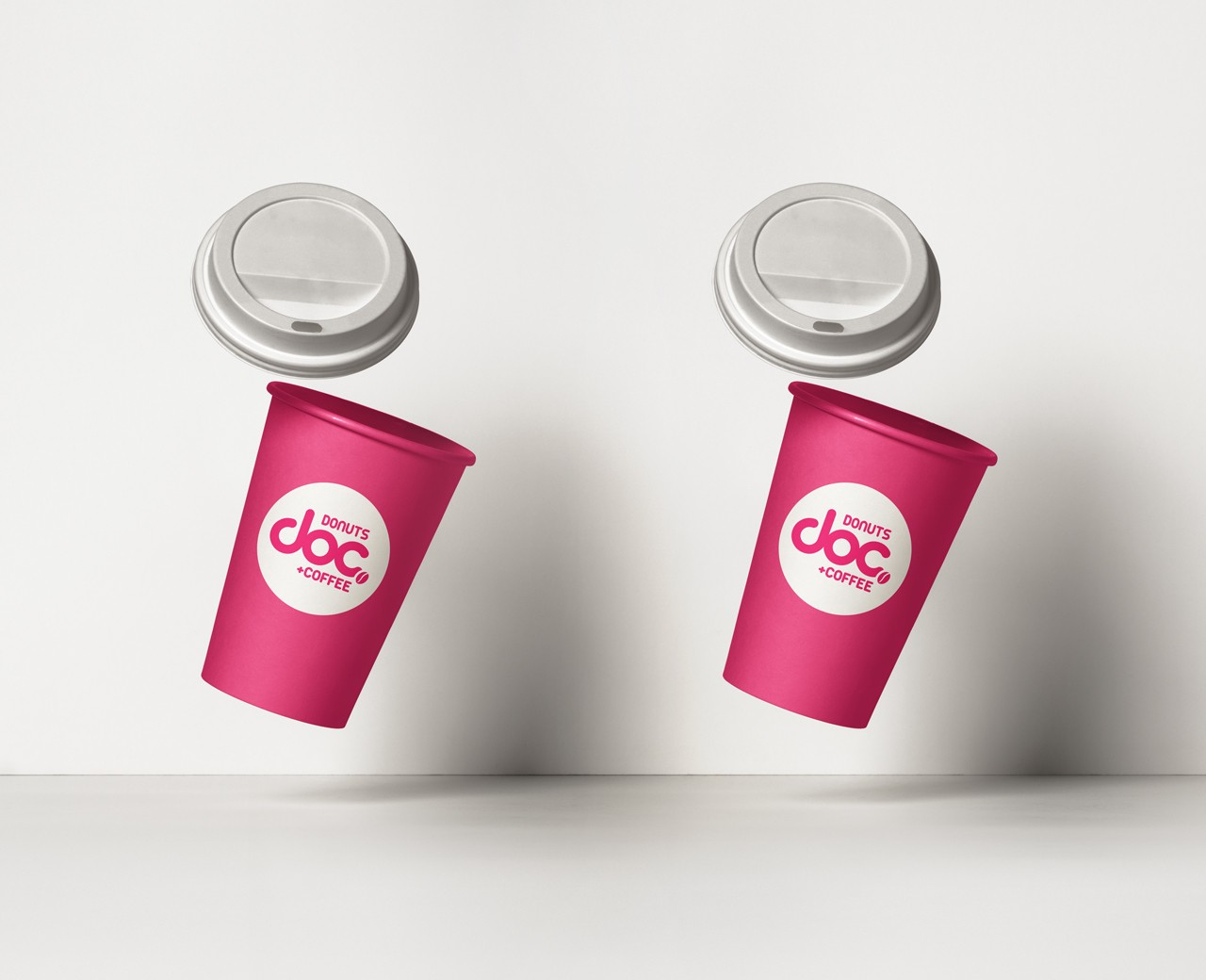 DOC Donuts+Coffee coffee cup design